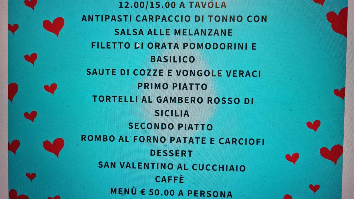 menu s valentino 2021 1200x675 - San Valentino  14 Febbraio Pranzo degli Innamorati